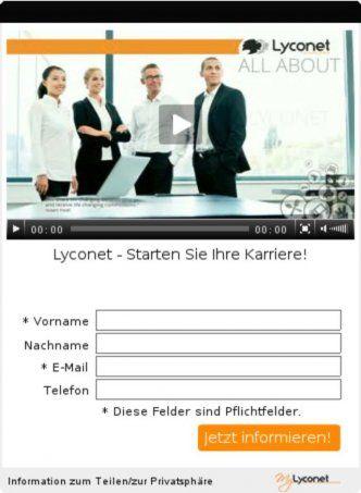Lyconet - Starten Sie Ihre Karriere!