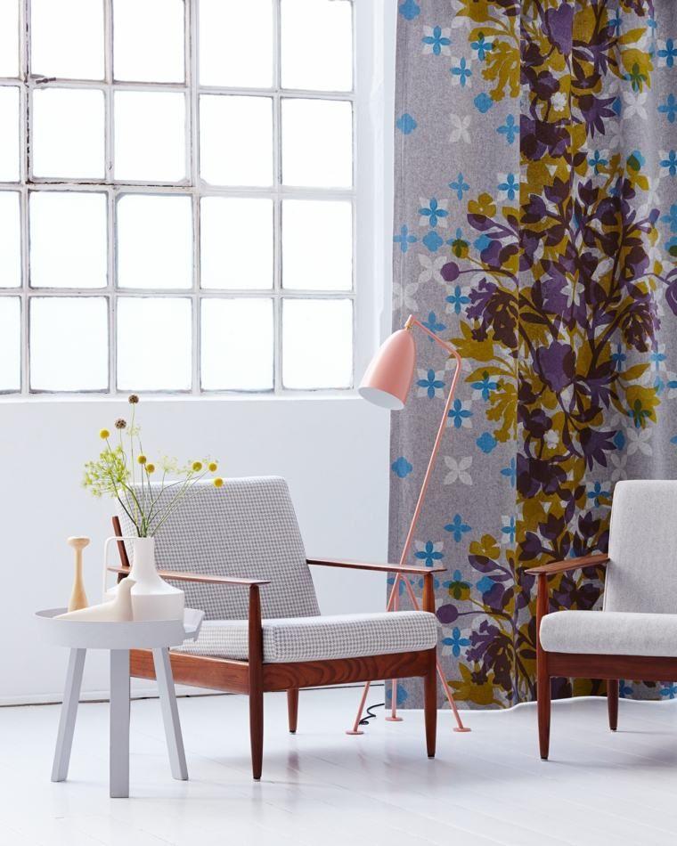 telas estampadas cortinas modernas cortinas pinterest