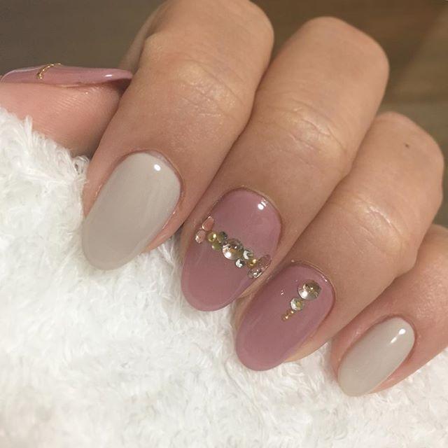 new nail♡ 仕事終わりに ネイルチェンジ nail ネイル