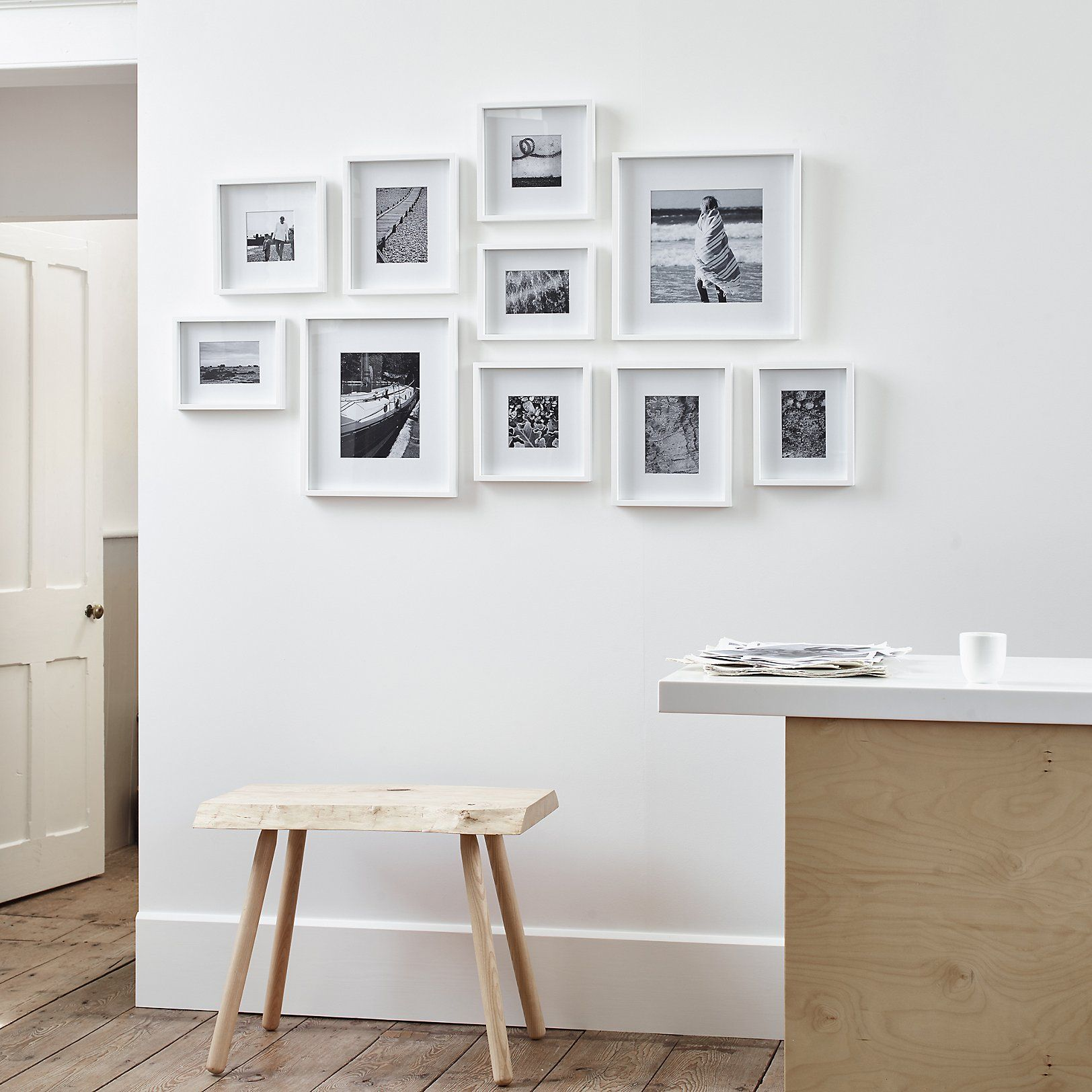 Picture Gallery Large Wall Photo Frame Set Photo Frames The White Company Frames On Wall Photo Frame Wall Frame Wall Collage
