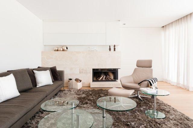 Wohnzimmer Sessel Zum Relax Couchtisch Set Rund Glas