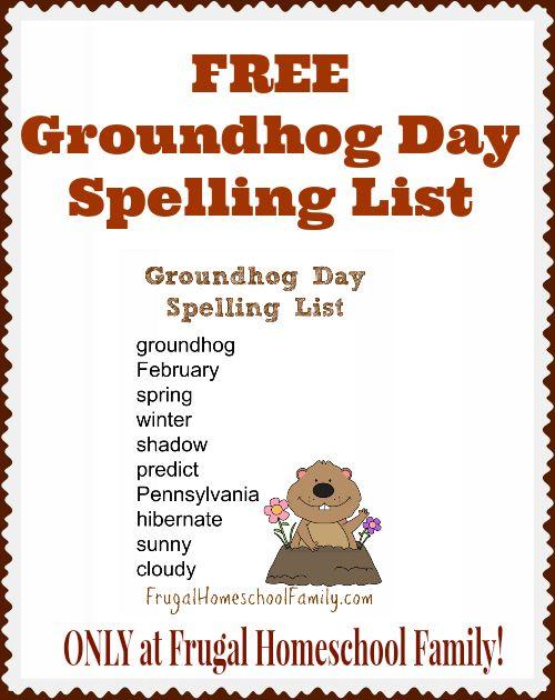 Free Groundhog Day Spelling List Worksheets Printables For Pre K