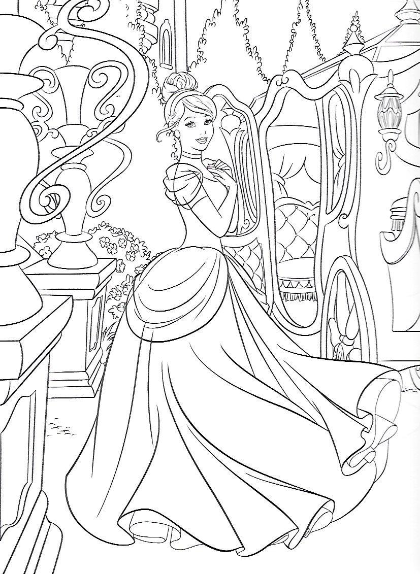 Cinderella Coloring Pages Free Disney Coloring Pages Disney Coloring Pages