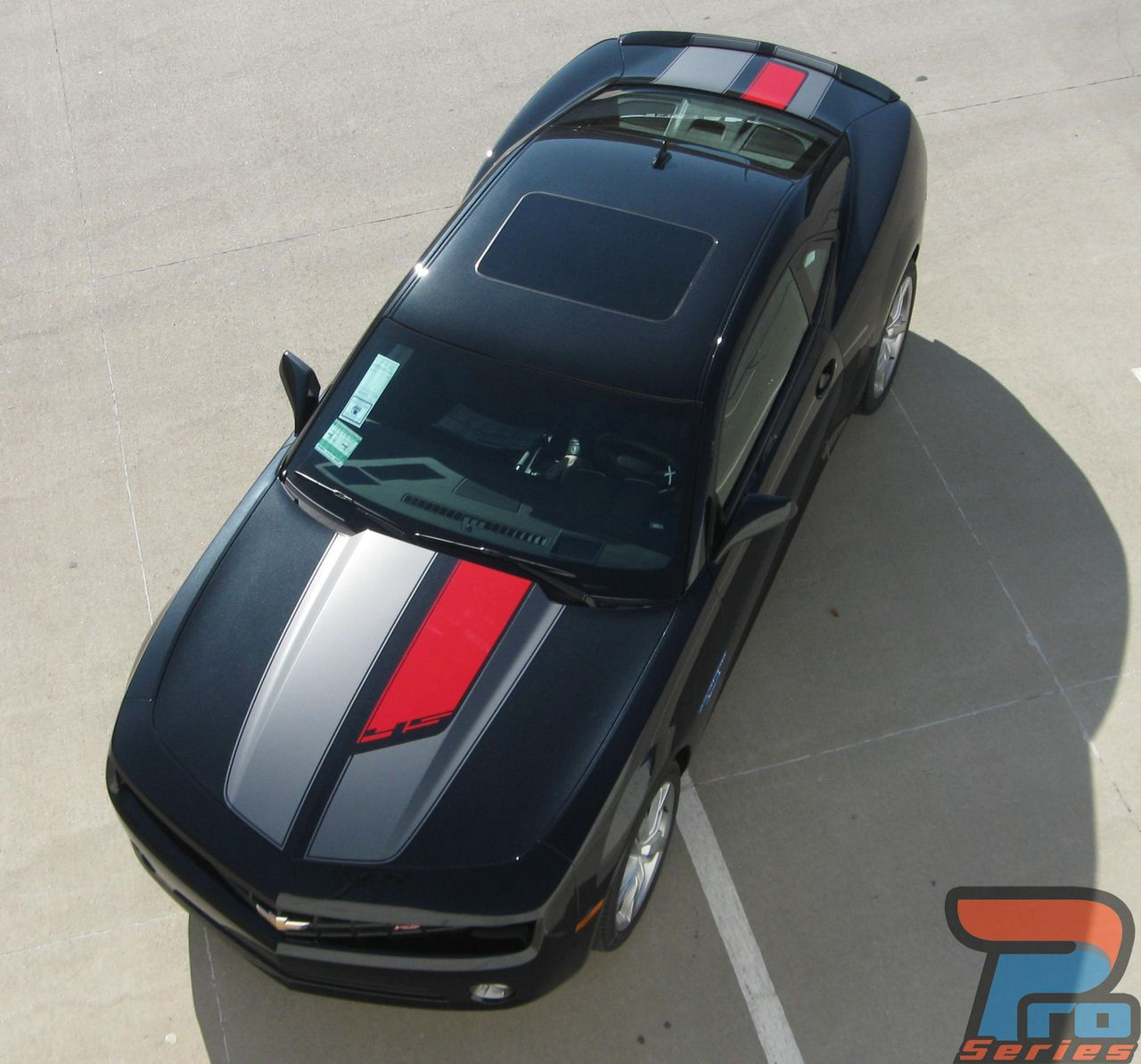 Chevrolet Camaro Two Tone Hood Accent Stripes Decals 2010 2011 2012 2013