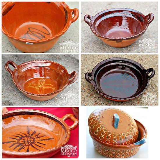 Decorated Cooking Urn Mexican Clay Potterycooking Pots Large Medium Small Flat