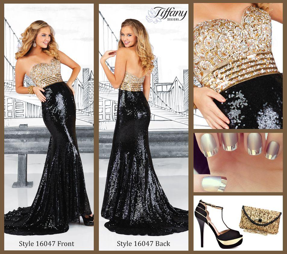Tiffany designs style in liquid gold and black goldblack