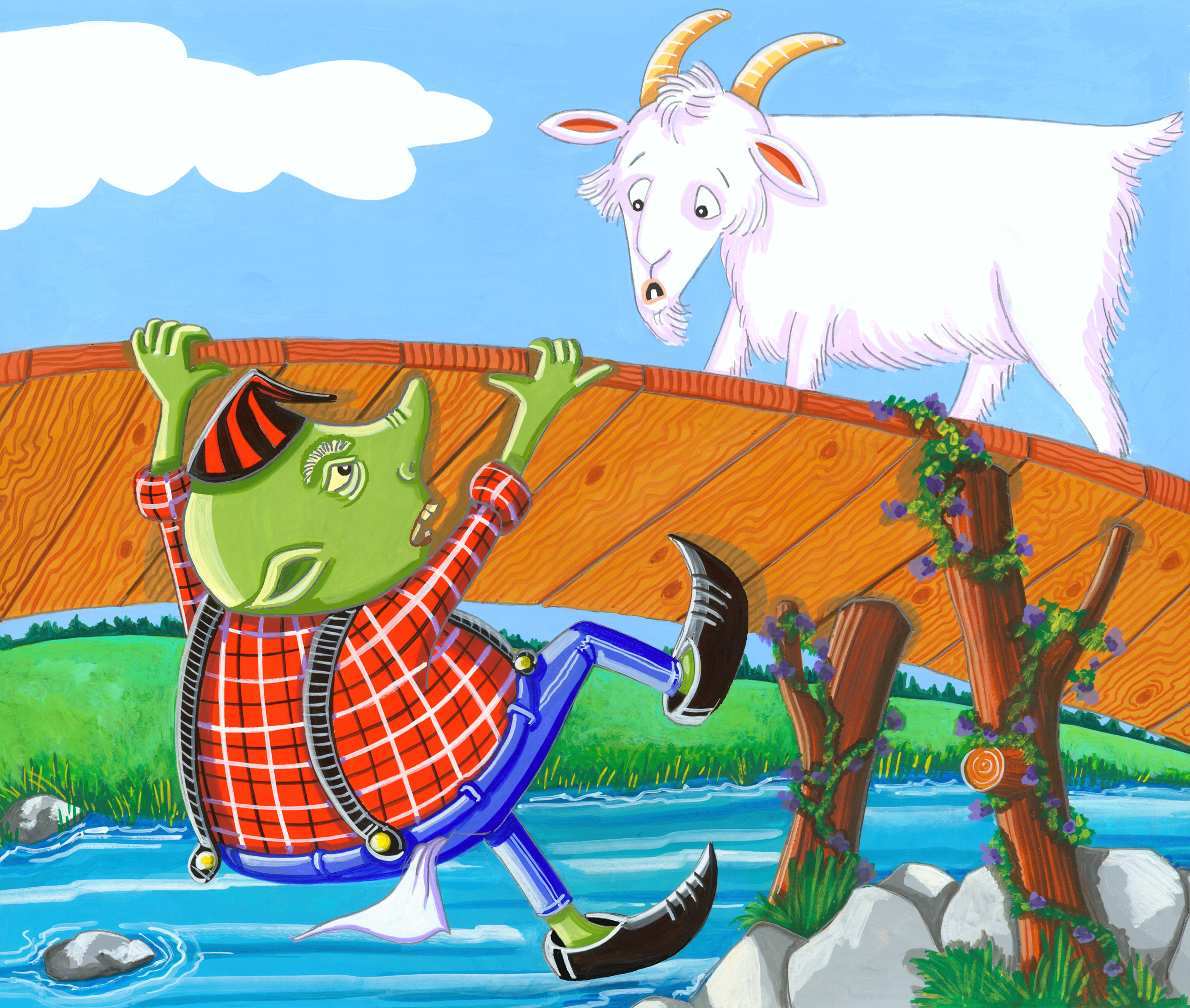 Three Billy Goats Gruff With Images
