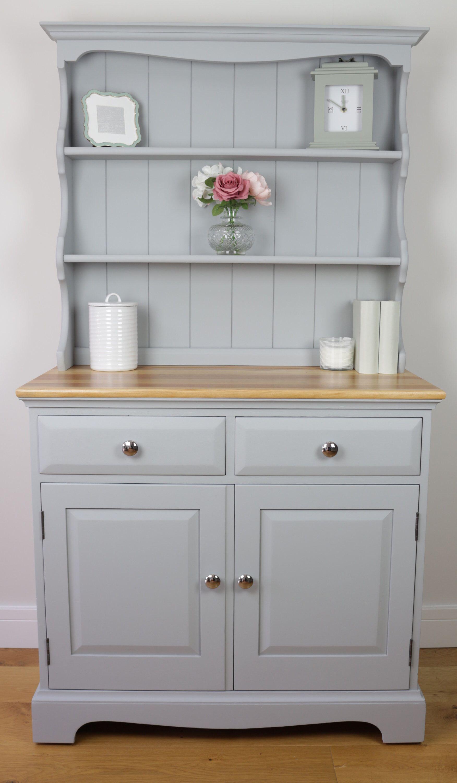 Vintage Light Grey Welsh Dresser
