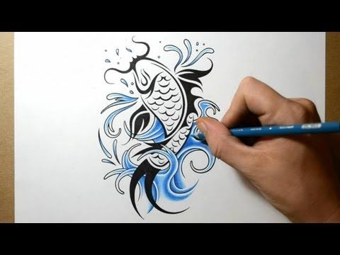 How To Draw A Koi Fish Tattoo Design Youtube Koi Fish Tattoo Tattoo Designs Tattoo Designs Men,Design Drawing With All 7 Elements Of Art