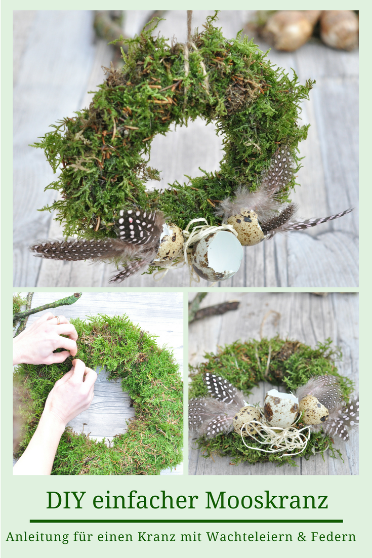 Photo of Moss wreaths for Easter – decoration with feathers and bulbs