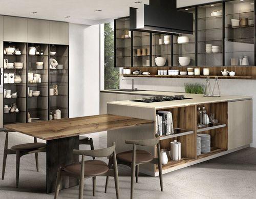 Cucina moderna / in noce / in vetro / in quarzo TELERO ...