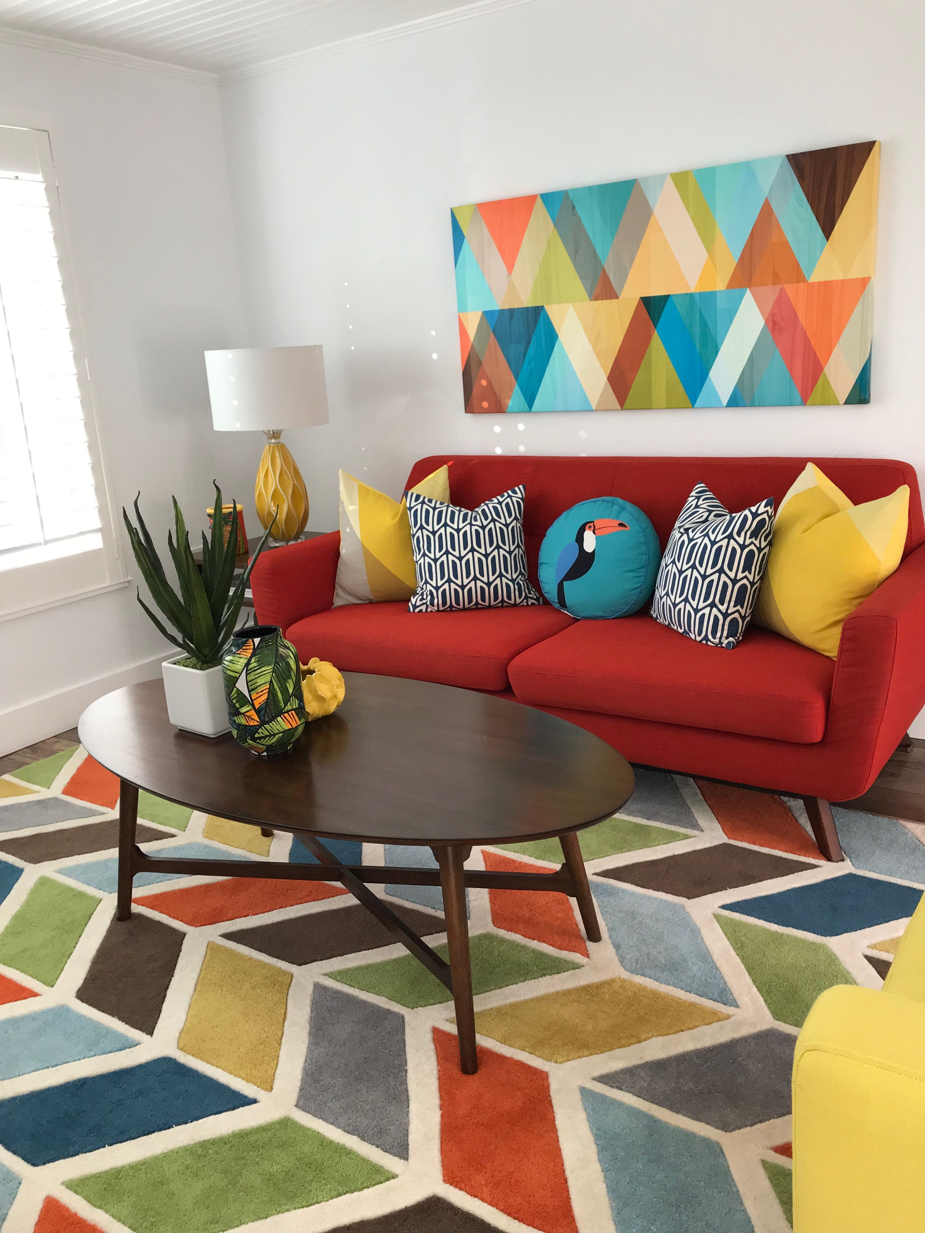 Mid Century colorful family room | Sofas n Chairs | Pinterest ...