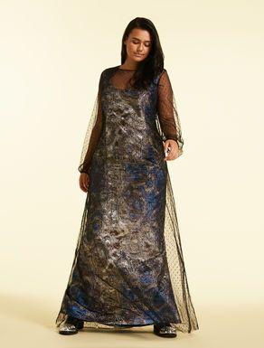 Langes Kleid aus Jacquard | Lange kleider, Kleider, Marina ...