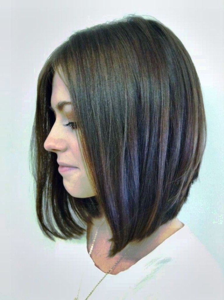 10 Short Hairstyles For Women Over 50 Long Angled Bob