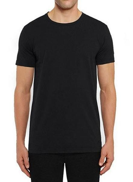 120cc5034879a5 Crew Basic Muscle Fitted Plain T-Shirt - Black - Muscle Fit Basics - 1