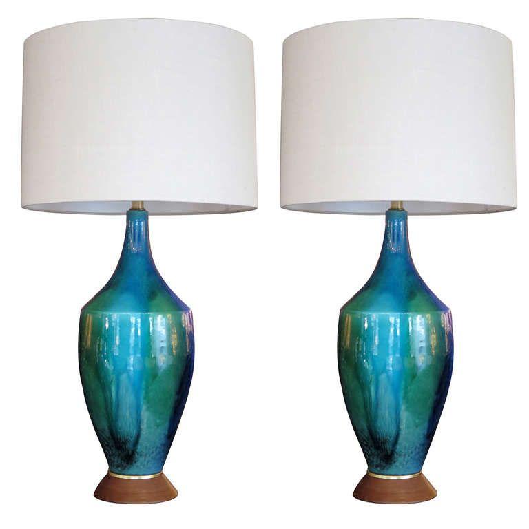 Large Ceramic Drip Glaze Lamps Lamp Ceramic Lamp Orange Furniture