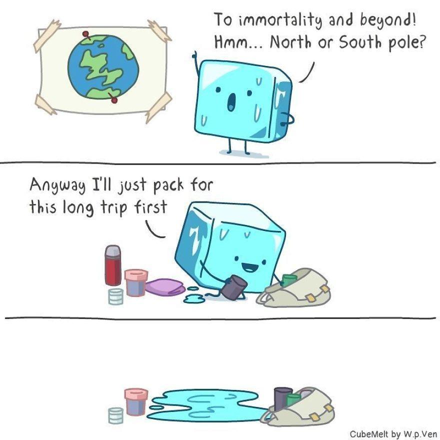 36 Quadrinhos Comicos Sobre Um Cubo De Gelo Piadas Legais Memes