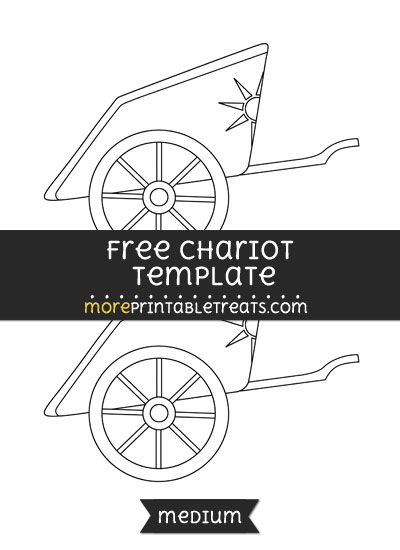 Free Chariot Template - Medium | Shapes and Templates Printables ...