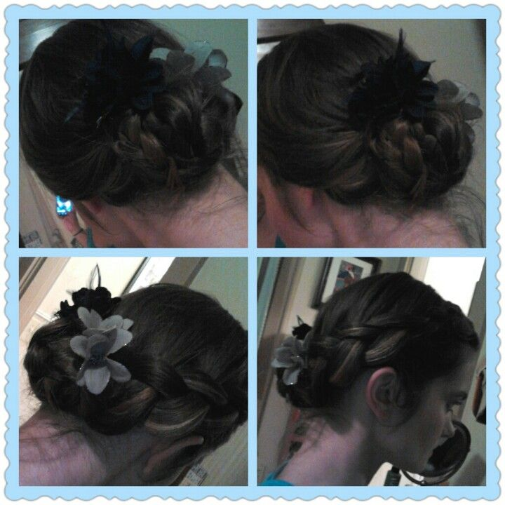 2 Of 2 Inside Out Braid Bun For Fundraiser Bridesmaid Hair Hair Styles Inside Out Braid