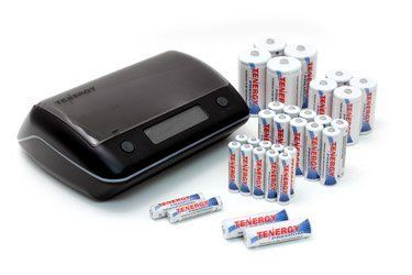 Combo Tn190 Universal Lcd Battery Charger 32 Premium Nimh Rechargeable Batteries 12aa 12aaa 4c 4d By Tenergy 9 Battery Sizes Nimh Battery Battery Safety