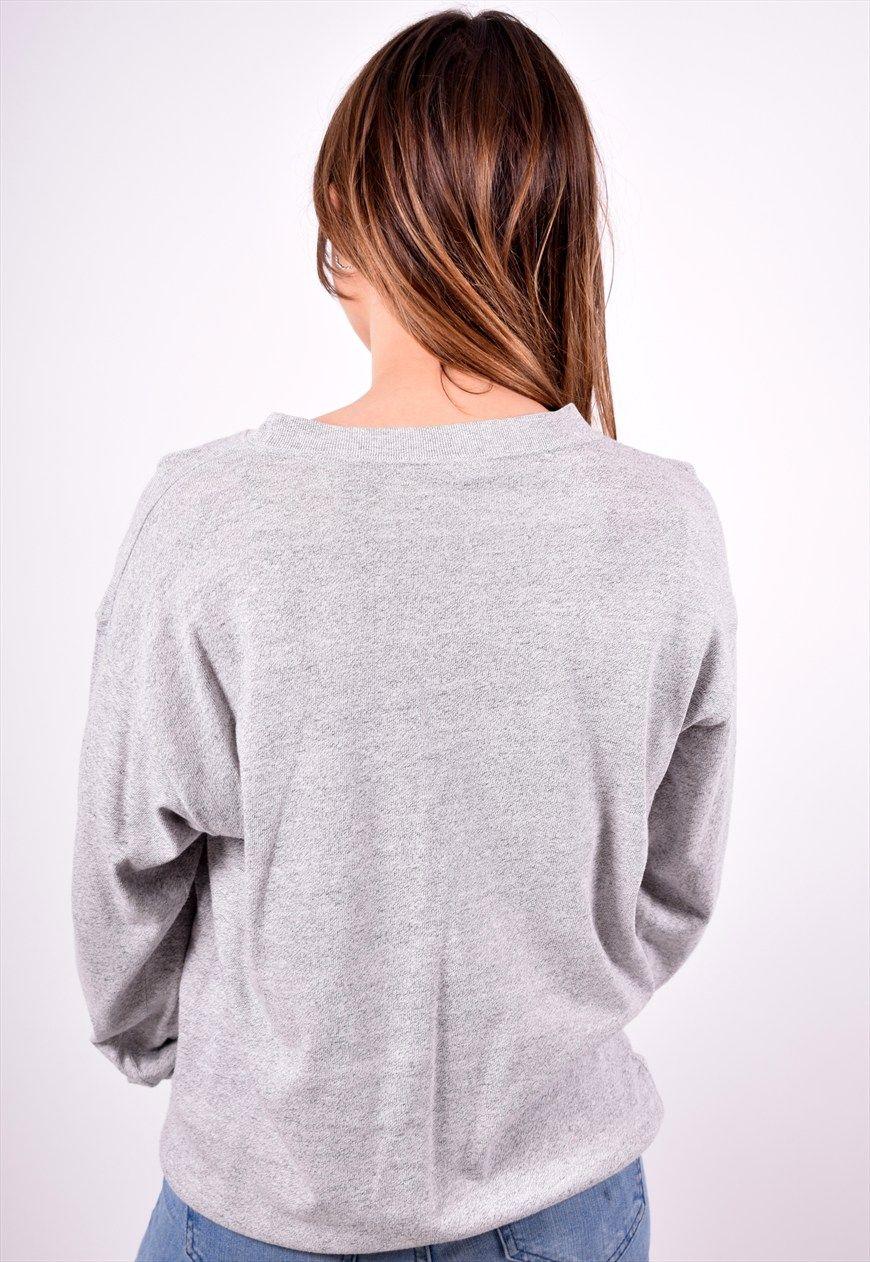 a2a2eb5179ae76 Champion Womens Vintage Sweatshirt Jumper Large Grey 90 s