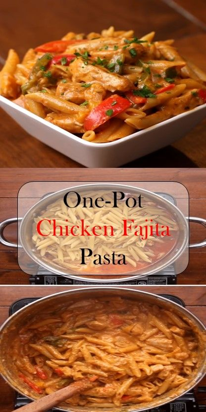 >> One-Pot Chicken Fajita Pasta #chicken #fajita #cookies - My recipes #recipeforchickenfajitas