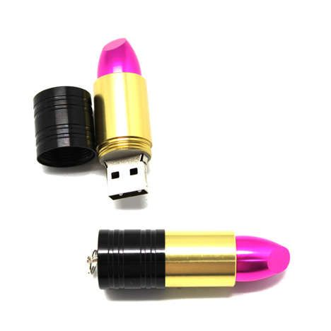 Cosmetics-Inspired Gadgets - Embrace Your Girly Side and Store Data on the USB Lipstick…