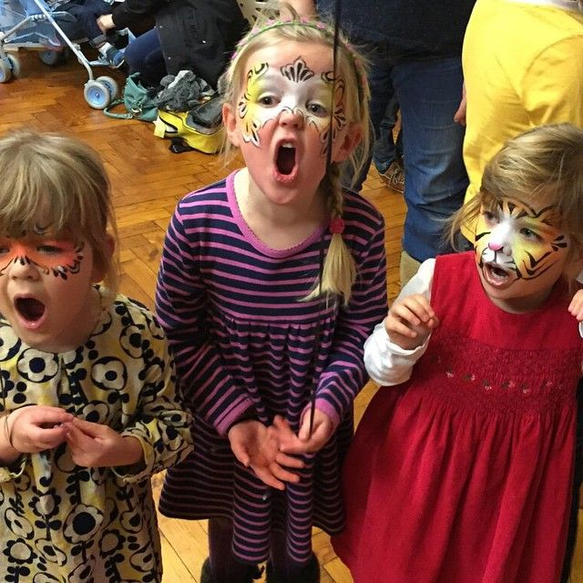 Face painted roars