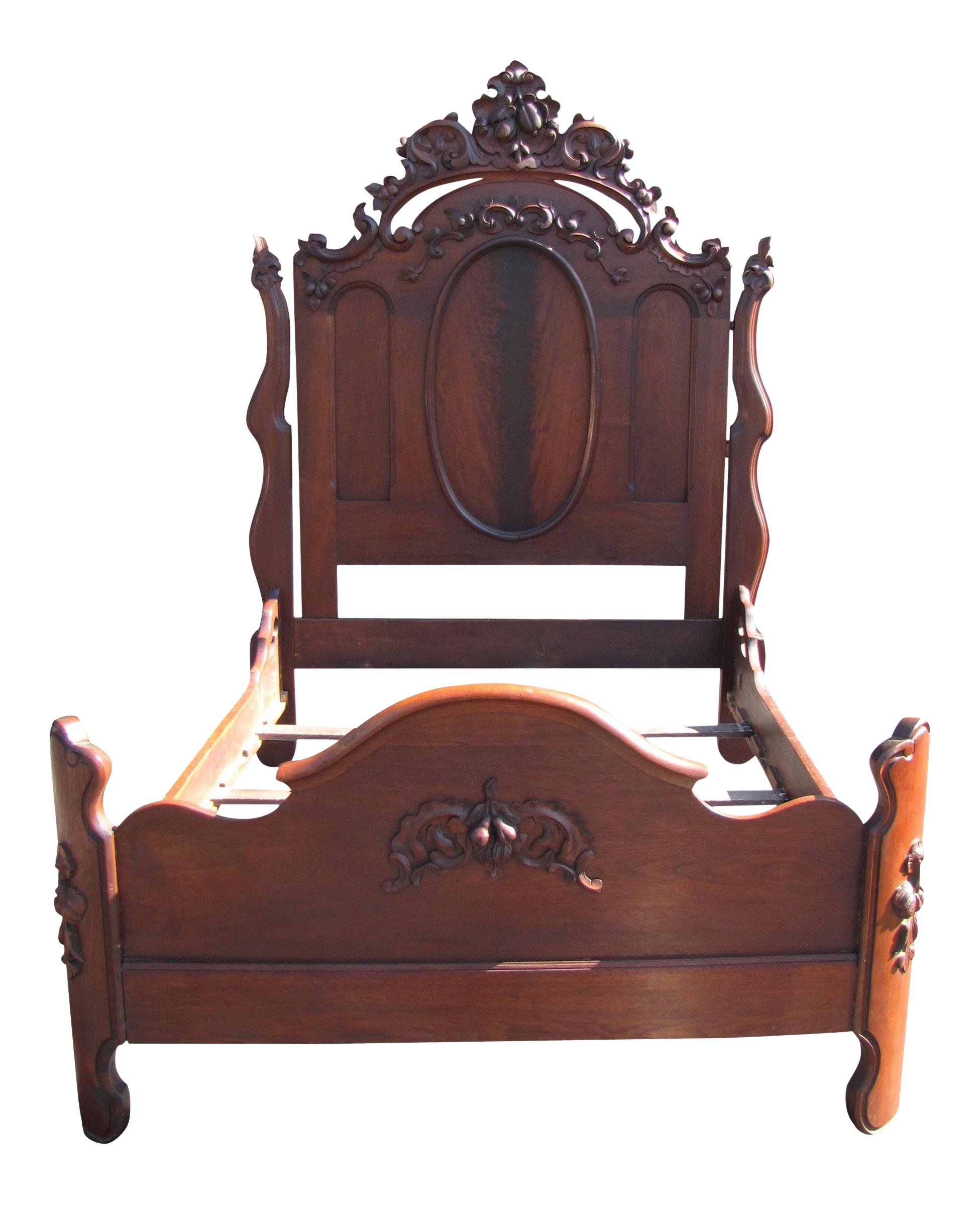 Empire-Style Full Size Bed Frame