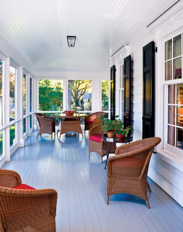 An Elegant New England Federal. Screened PorchesEnclosed PorchesEnclosed  Porch DecoratingScreened Porch DesignsSmall Front ...