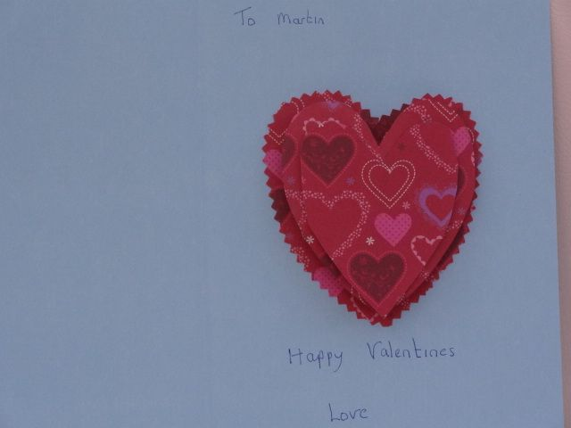 Inside the Valentine card I manage to do 3 hearts on tiny springs