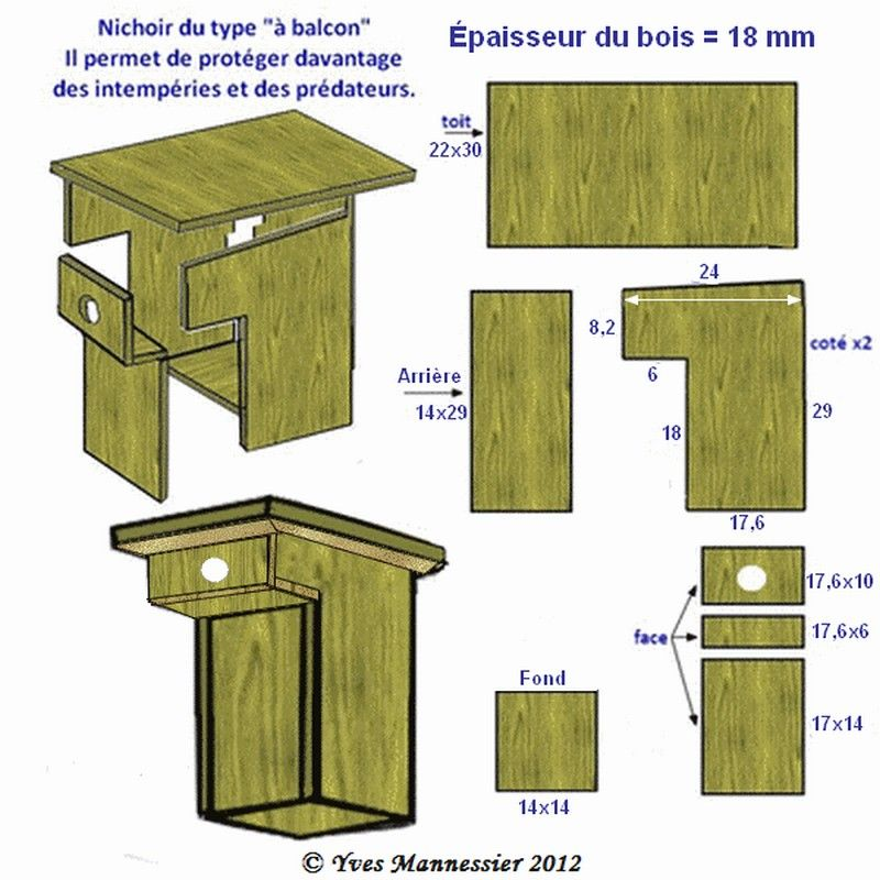 nichoirs oiseaux type balcon nichoirs pour oiseaux du jardin birdhouse nistkasten. Black Bedroom Furniture Sets. Home Design Ideas