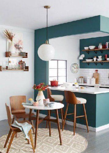 Quelle peinture pour une cuisine blanche ? salon cuisine nelly - cuisine verte et blanche