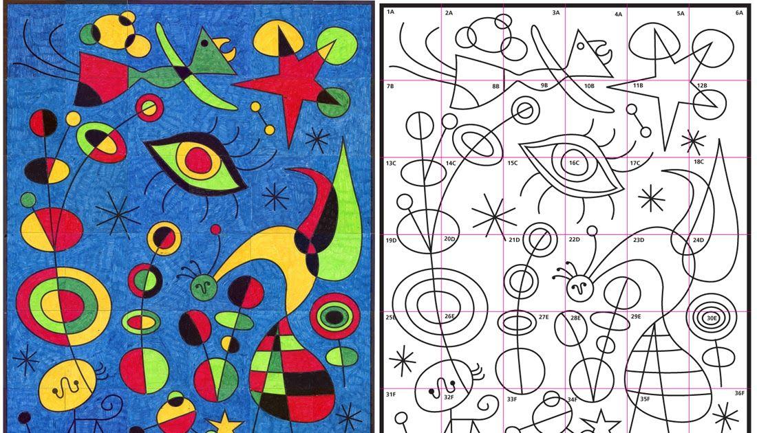 Art Projects For Kids Ode To Joan Miro Mural Diagram Joan Miro