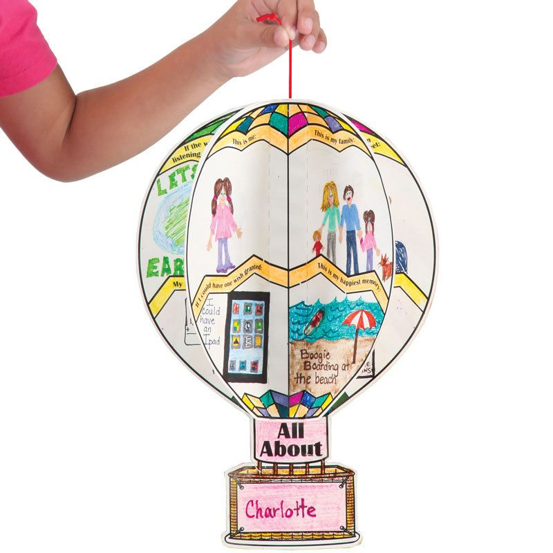 Get To Know You Activity Classroom Theme Hot Air Balloon