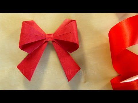 Origami Schleife Falten 3d Geschenkschleife Basteln Mit