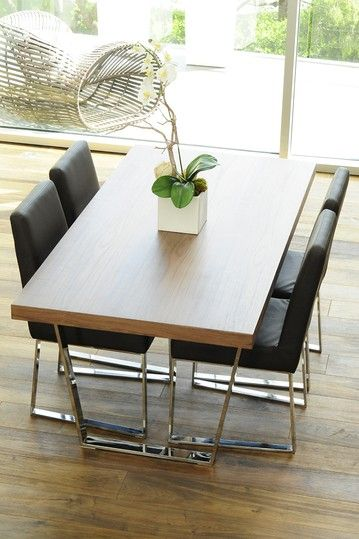 Sienna Wide Dining Table - Walnut on HauteLook