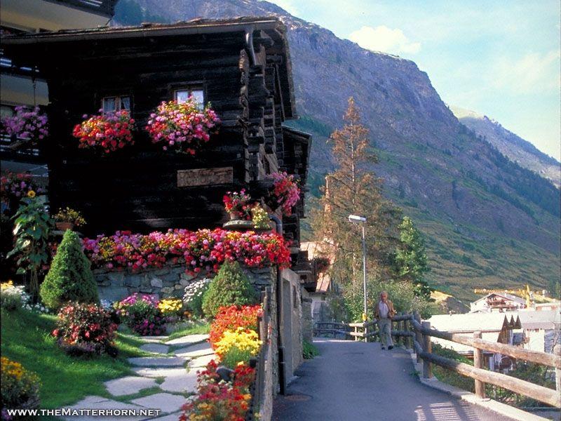 Zermatt. Most beautiful town in the world. No motor vehicles allowed.
