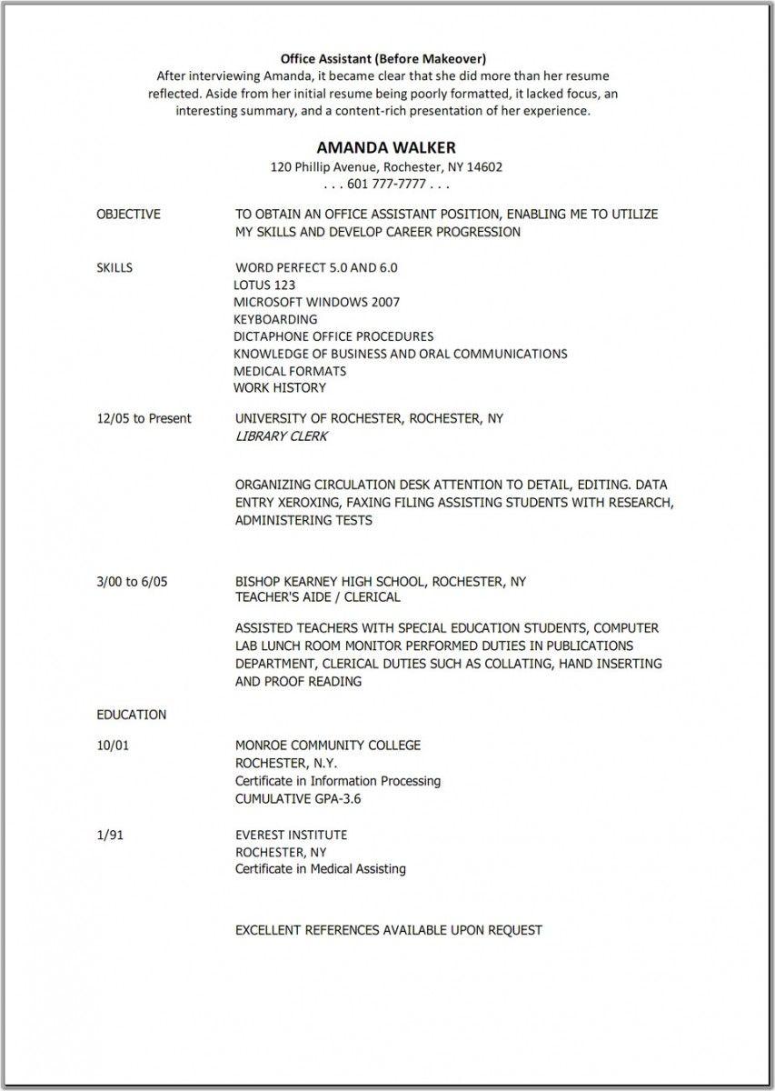 Resume Templates Medical Assistant Medical Assistant Resume Administrative Assistant Resume Medical Resume Resume template for medical assistant