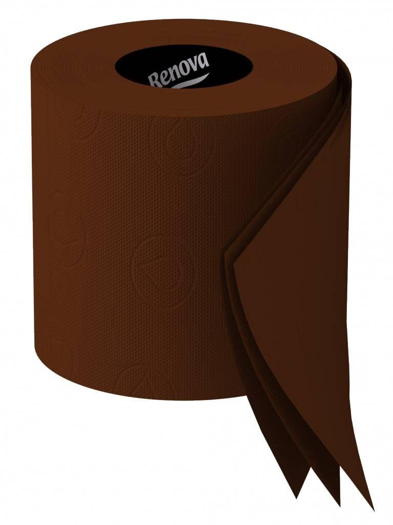 Color Chocolate - Chocolate!!! Renova Brown toilet paper duo