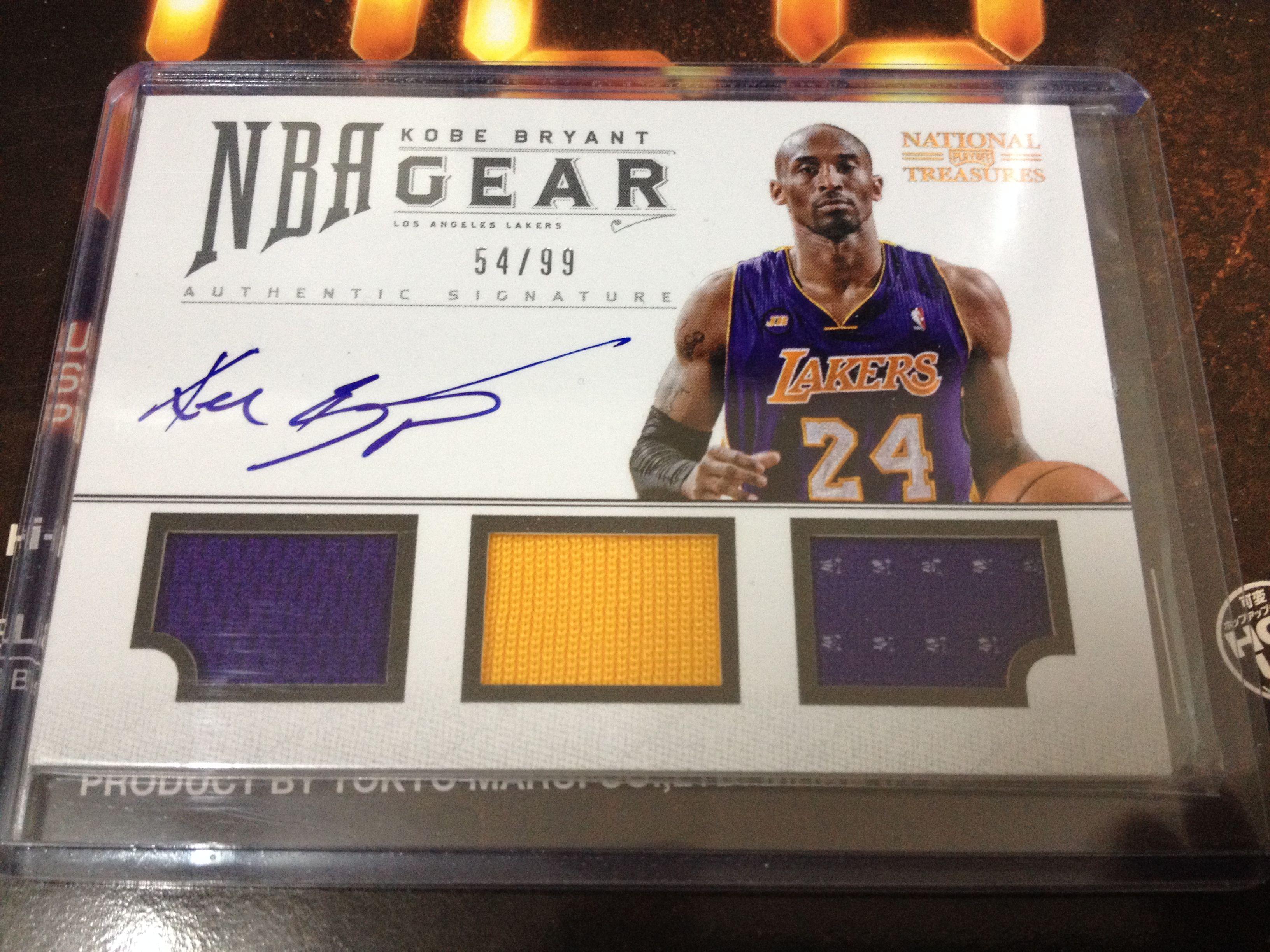 926cf0edefd NBA Gear Kobe Bryant Triple Jersey Card.