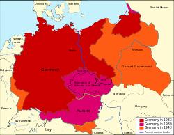 Geografisk placering af Nazi-Tyskland
