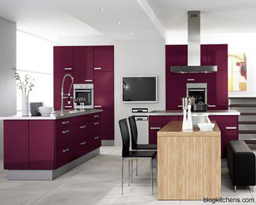 purple and grey kitchen - Google Search