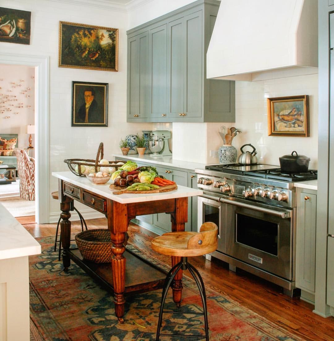 Kitchen With Art & Rich Woods - Melissa Rufty