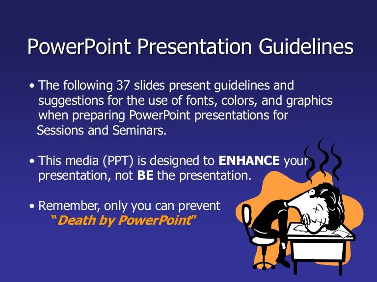 Powerpoint Presentation Guildelines  English