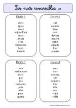 Les dictées de mots invariables | Mot invariable, Dictée et Mots invariables ce1