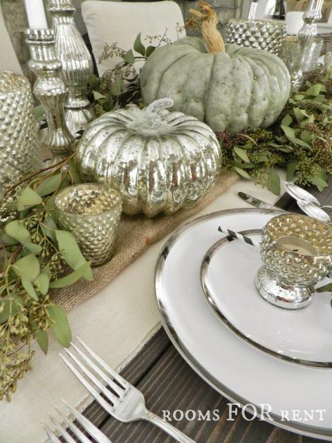 Mercury Glass Thanksgiving Tablescape {Grand Finale}
