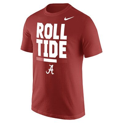 Nike Men's University of Alabama Local Verbiage T-shirt (Red Medium, Size  Large) - NCAA Licensed Product, NCAA Men's Tops at Academy Sports