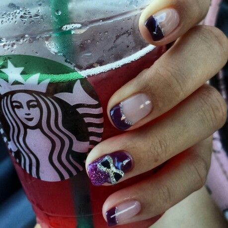 Plum nails with a hint of sparkle to kick off the fall/winter time.