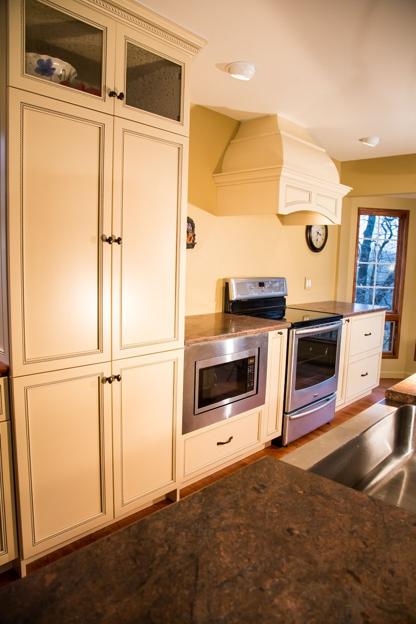 Old World Traditional White Kitchen in Towson, Maryland ...